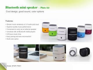 Bluetooth mini speaker � Pluto Air