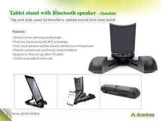 Tablet stand with Bluetooth speaker  – Standola