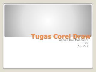 Tugas  Corel Draw
