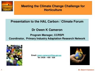 Meeting the Climate Change Challenge for Horticulture
