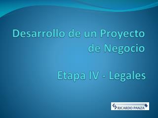 Desarrollo  de  un Proyecto  de Negocio