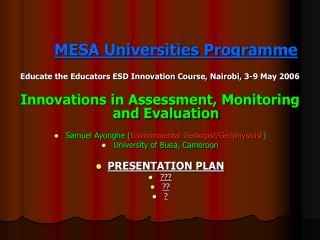 MESA Universities Programme