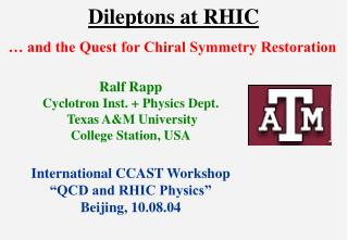 Dileptons at RHIC