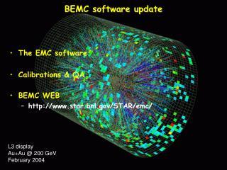 BEMC software update