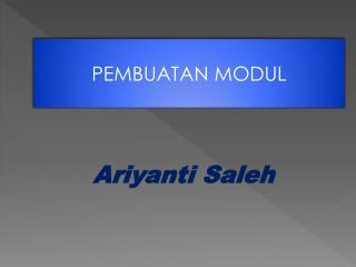 Ariyanti Saleh