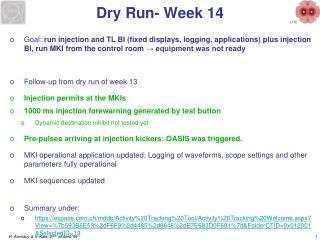 Dry Run- Week 14