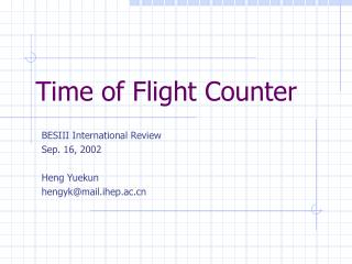 Time of Flight Counter