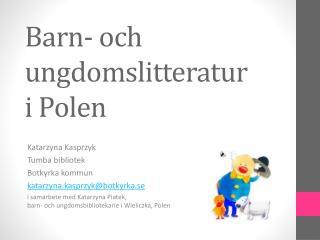 Barn- och ungdomslitteratur  i Polen