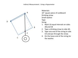 Indirect Measurement:  Using a Hypsometer