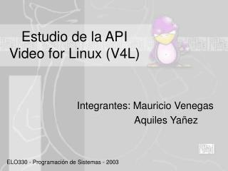 Estudio de la API Video for Linux (V4L)