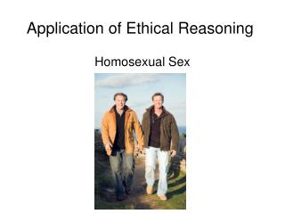 Application of Ethical Reasoning