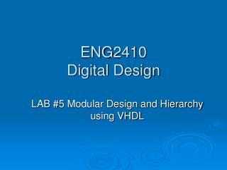 ENG2410  Digital Design