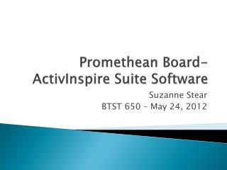 Promethean Board- ActivInspire Suite Software