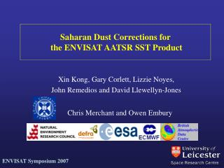 Saharan Dust Corrections for  the ENVISAT AATSR SST Product
