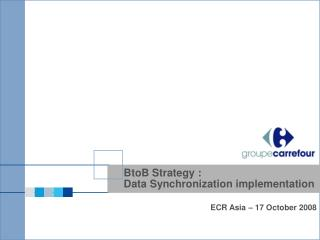 BtoB Strategy : Data Synchronization implementation