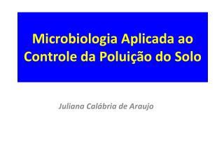 Microbiologia Aplicada ao Controle da Poluição do Solo