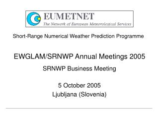 EWGLAM/SRNWP Annual Meetings 2005 SRNWP Business Meeting