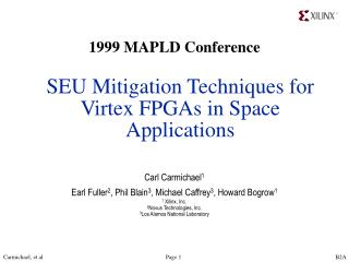 SEU Mitigation Techniques for Virtex FPGAs in Space Applications