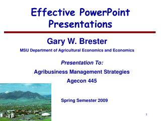 Effective PowerPoint Presentations