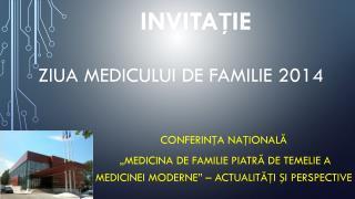 ZIUA MEDICULUI DE FAMILIE 2014