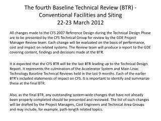 Review Content for  Technical Design Report
