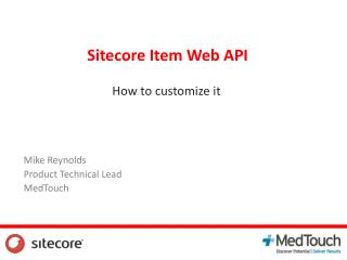 Sitecore  Item Web API