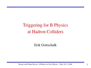 Triggering for B Physics at Hadron Colliders