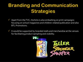 Branding and Communication Strategies
