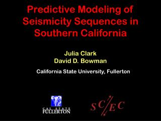 Predictive Modeling of Seismicity Sequences in Southern California