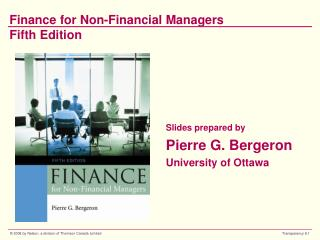 Finance for Non-Financial Managers Fifth Edition
