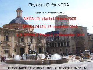 Physics LOI for NEDA