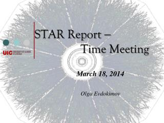 STAR Report    Time Meeting