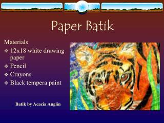 Paper Batik