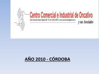 AÑO 2010 - CÓRDOBA