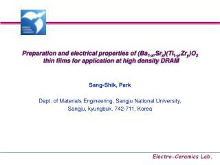 Preparation and electrical properties of (Ba 1-x ,Sr x )(Ti 1-y ,Zr y )O 3