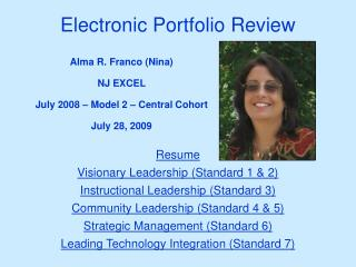 Electronic Portfolio Review