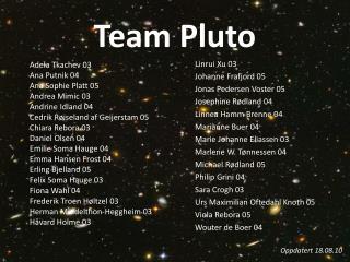 Team Pluto