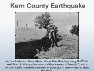 Kern County Earthquake
