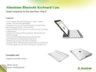 Aluminum Bluetooth Keyboard Case