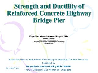 Strength and Ductility of Reinforced Concrete Highway Bridge Pier