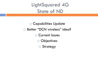 LightSquared 4G  State of ND