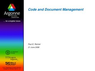 Code and Document Management