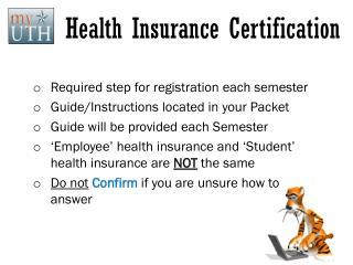 Health Insurance Certification