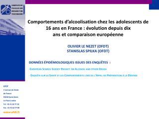 Comportements d'alcoolisation chez les adolescents de 16 ans en France : évolution depuis dix