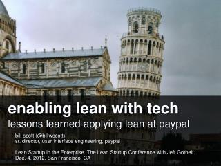enabling lean with tech lessons learned applying lean at paypal