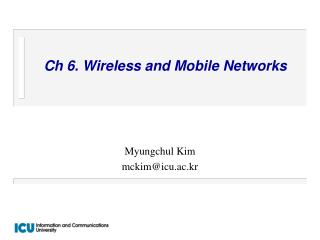 Ch 6. Wireless and Mobile Networks