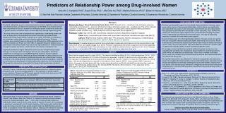 Predictors of Relationship Power among Drug-involved Women