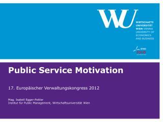 Public Service Motivation