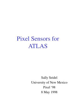 Pixel Sensors for ATLAS