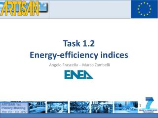 Task 1.2  Energy-efficiency indices